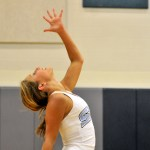 Freshman, and JV drill team member, Kathryn Nachtigal performs in the team jazz dance. Photo by Maddie Smiley