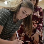 Junior Reagan Smith signs up for the SHARE project 'Blood Drive'. Photo by Audrey Kesler