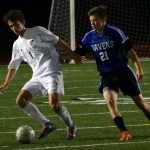 Sophomore TJ Libeer looks to pass the ball upfield to a teammate. Photo by Audrey Kesler
