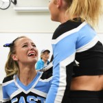 Senior Anna Mclelland cries after competition because it was her last district competition. Photo by Carson Holtgraves
