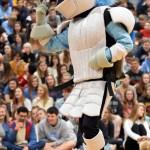 The lancer dances while senior Denny Rice waxes his legs. Photo by Ellen Swanson