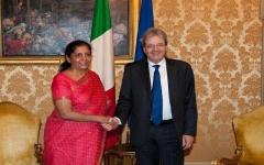 Sitharaman with Italy PM Paolo Gentiloni