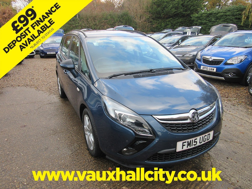 Vauxhall City Windlesham Used Deep Sea Blue Vauxhall Zafira Tourer For Sale Surrey
