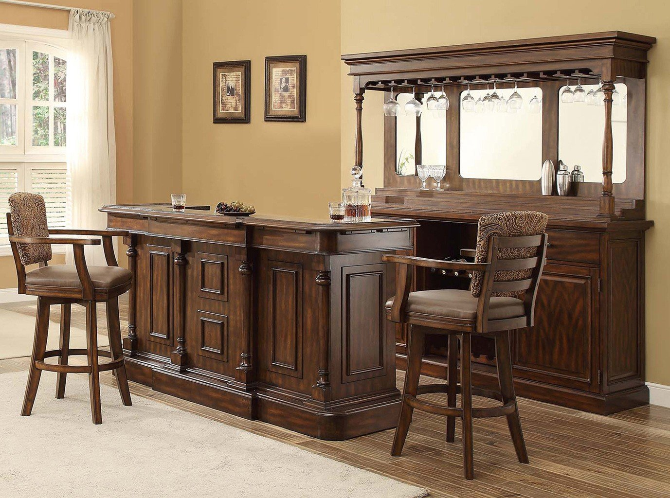 Home Bar Furniture Trafalgar Square Deluxe Home Bar Set