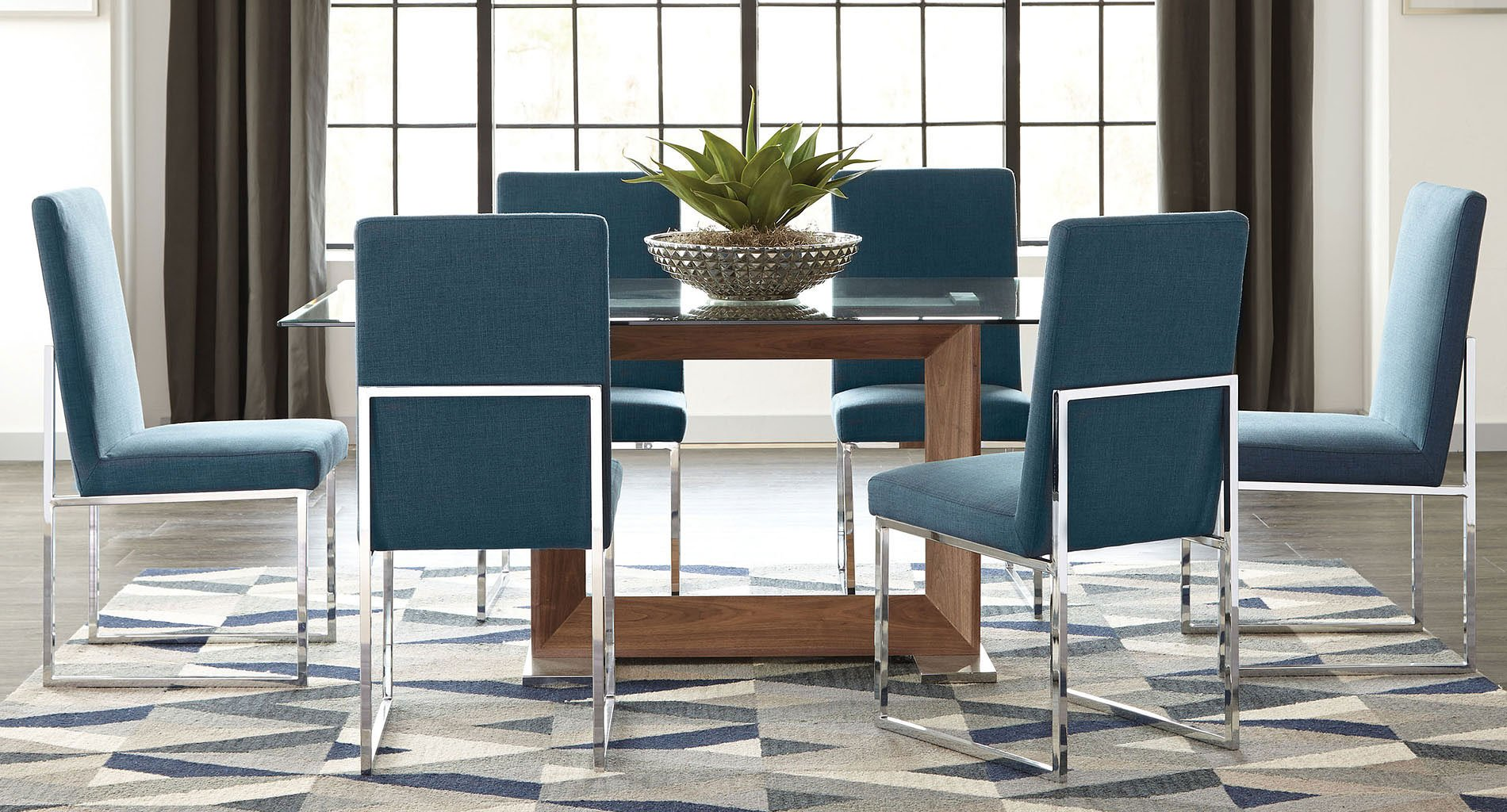 Dining Room Furniture Glass Jackson Modern Glass Dining Room Set By Coaster Furniture