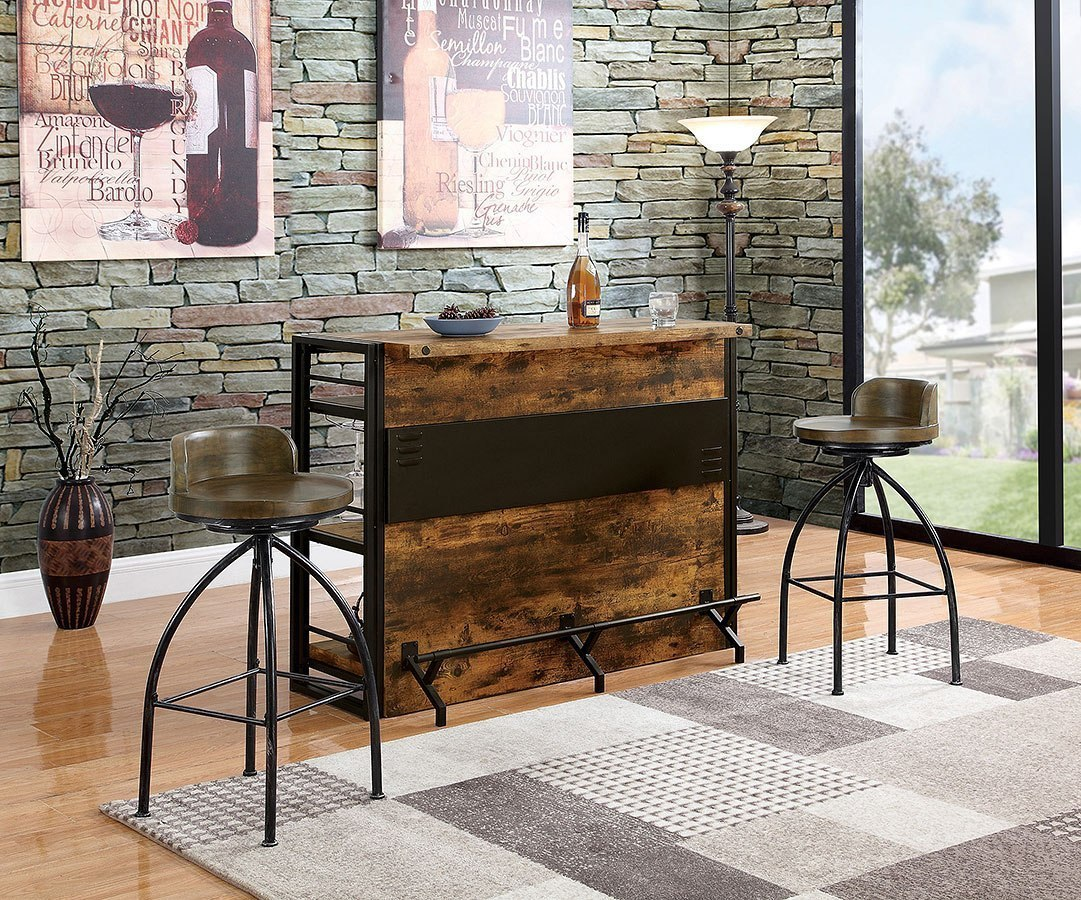 Home Bar Furniture Industrial Home Bar Set