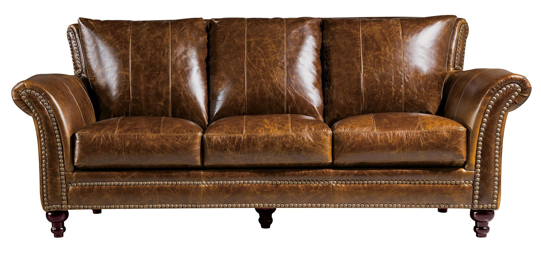 Brown Real Leather Couch Butler Leather Sofa Brown