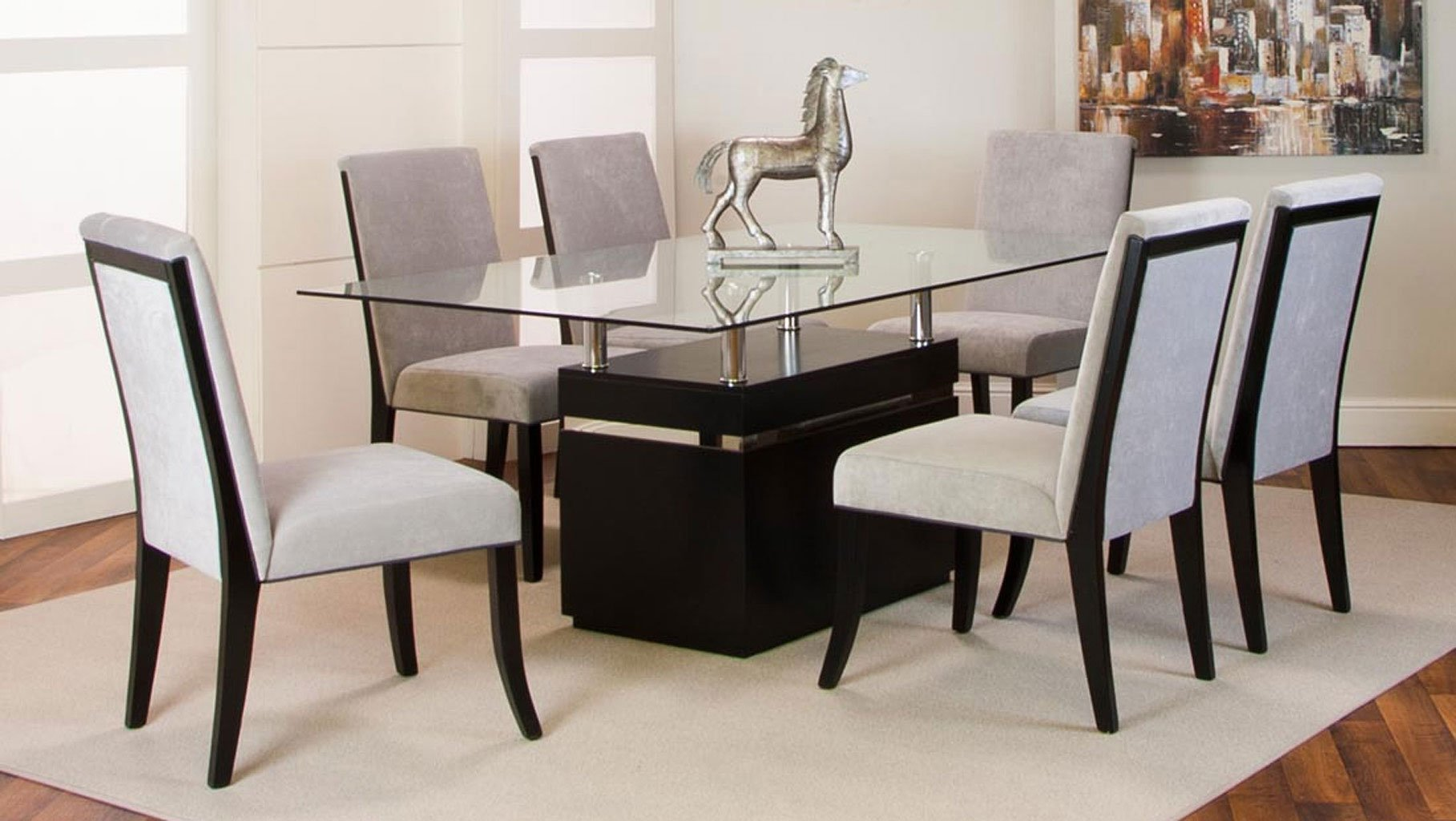 Dining Room Furniture Glass Nicole Clear Glass Top Dining Room Set Dining Room And
