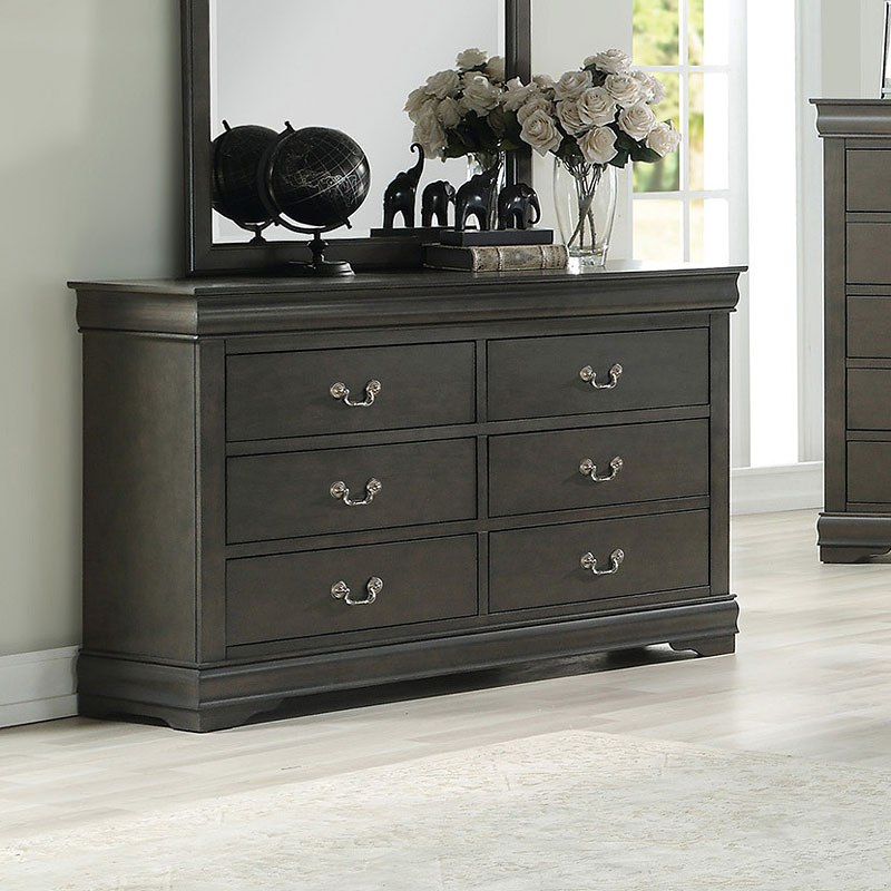 Dark Gray Dresser Louis Philippe Dresser (dark Gray) By Acme Furniture