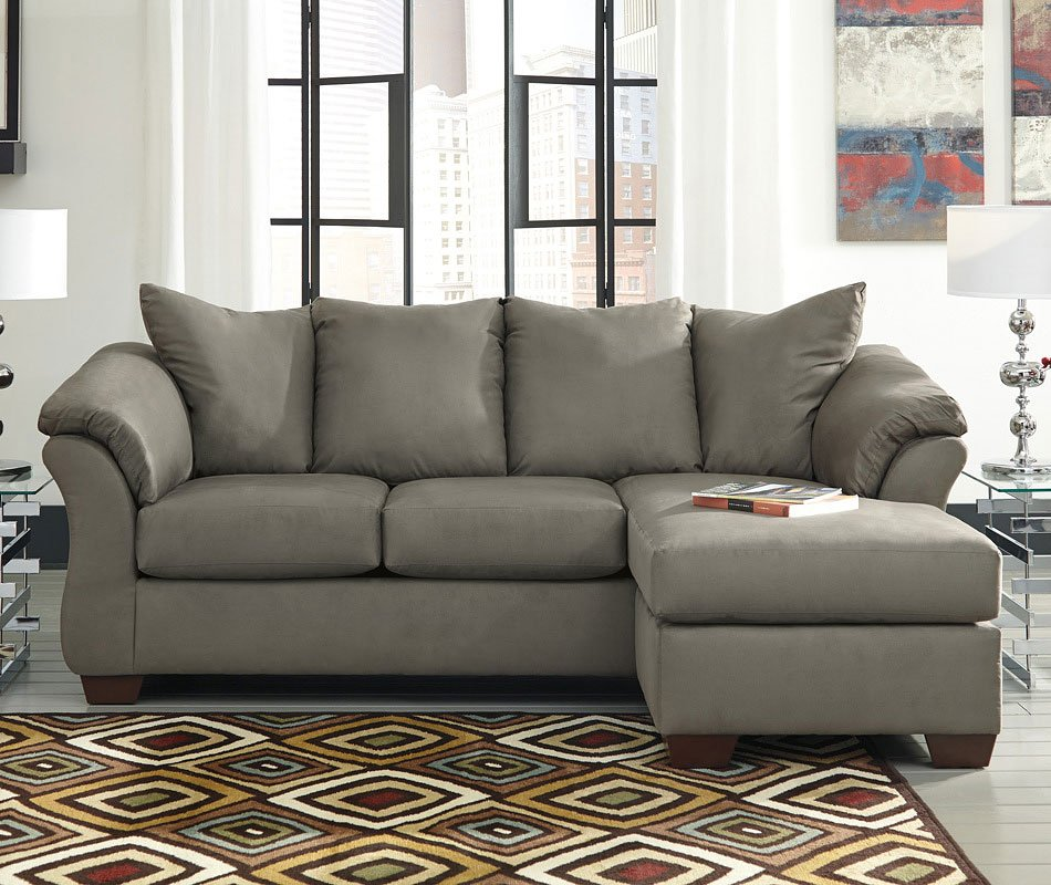 Darcy Sofa Ashley Review Darcy Cobblestone Sofa Chaise By Signature Design By
