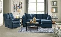 Darcy Blue Sofa Chaise Living Room Set - Living Room ...
