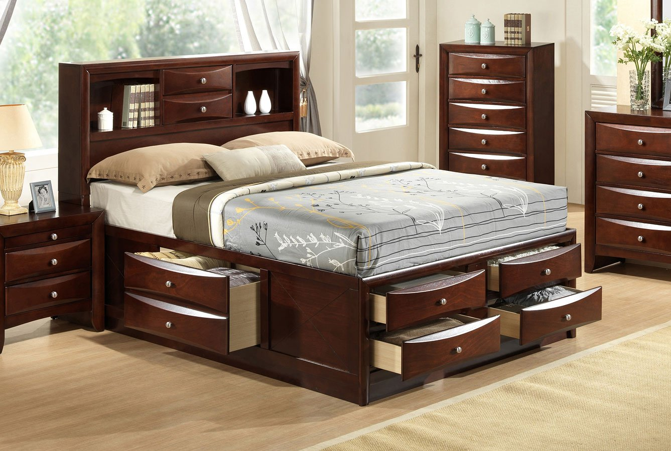 Bookcase Bed Emily Bookcase Bed Brown