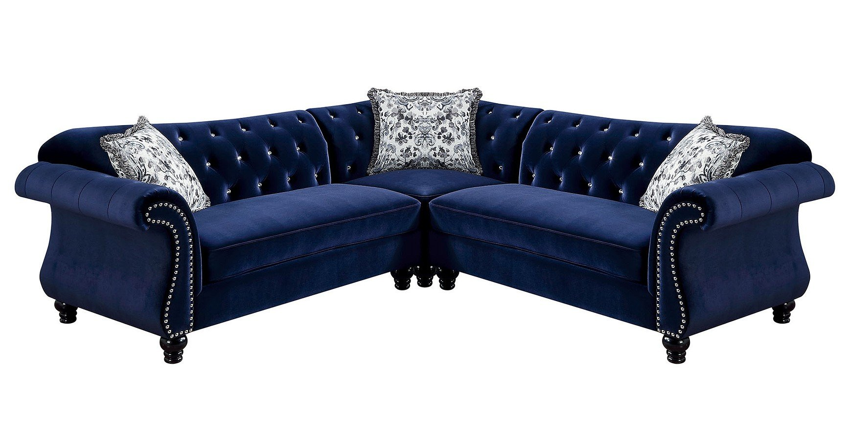 Blue Sectional Jolanda Sectional Blue