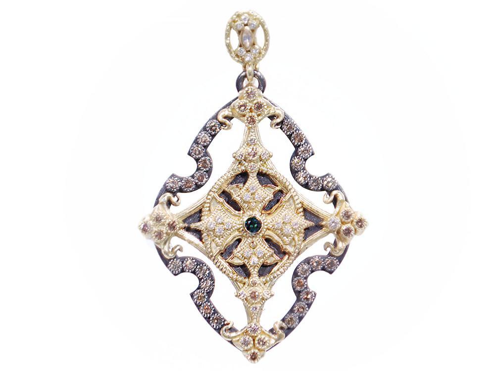 Open Cross Enhancer With Diamonds Mccaskill And Company
