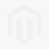 Garnet and Diamond Halo Round Drop Earrings in 14k White