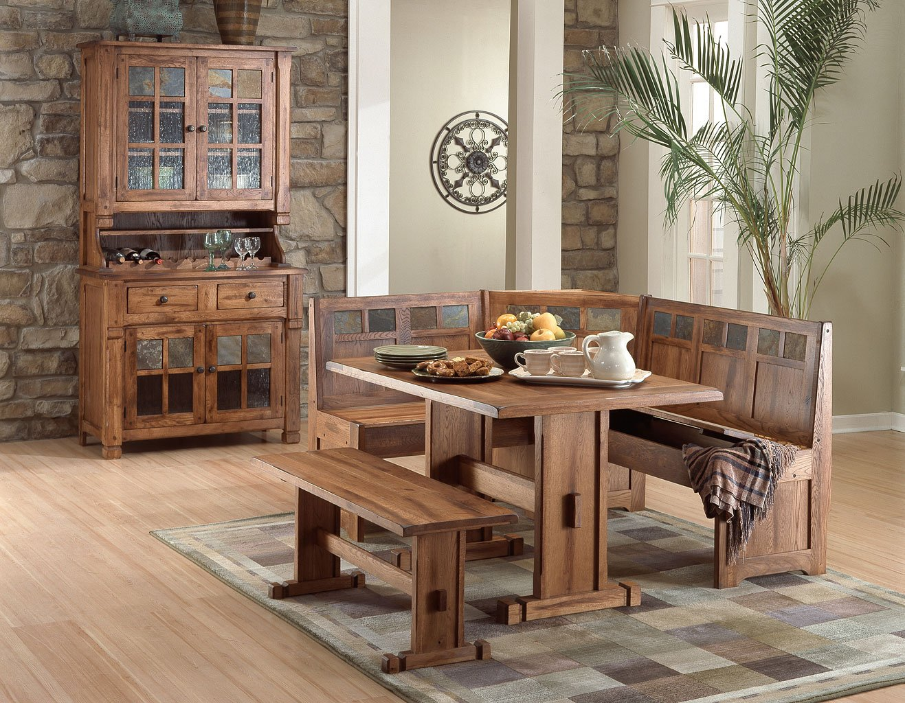 Sedona Breakfast Nook Set Sunny Designs 3 Reviews Furniture Cart