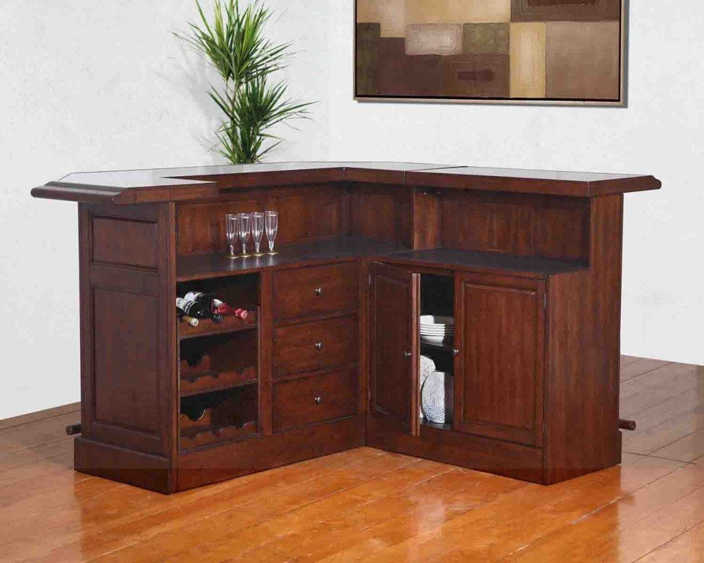 Home Bar Furniture Belvedere Return Home Bar Set Distressed Walnut