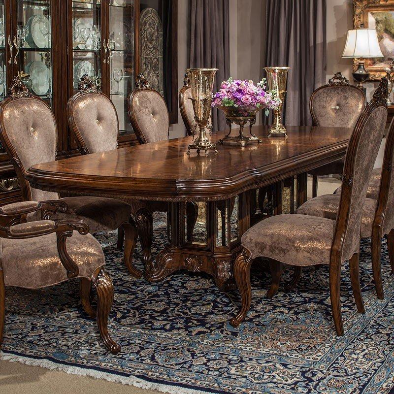 Platine De Royale Rectangular Dining Table (Espresso) Aico