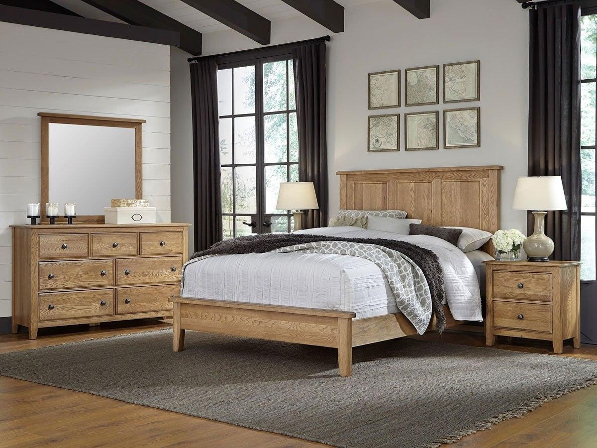Artisan Choices Panel Low Profile Bedroom Set Natural Oak