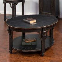 Distressed Black Round Coffee Table Sunny Designs ...