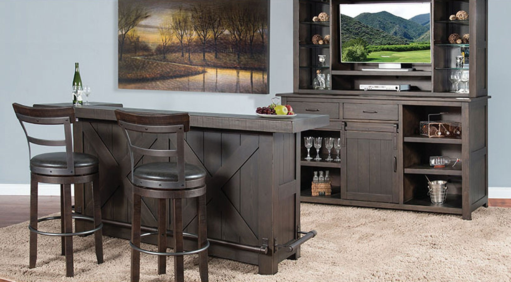 Home Bar Furniture Deep Earth Home Bar Set