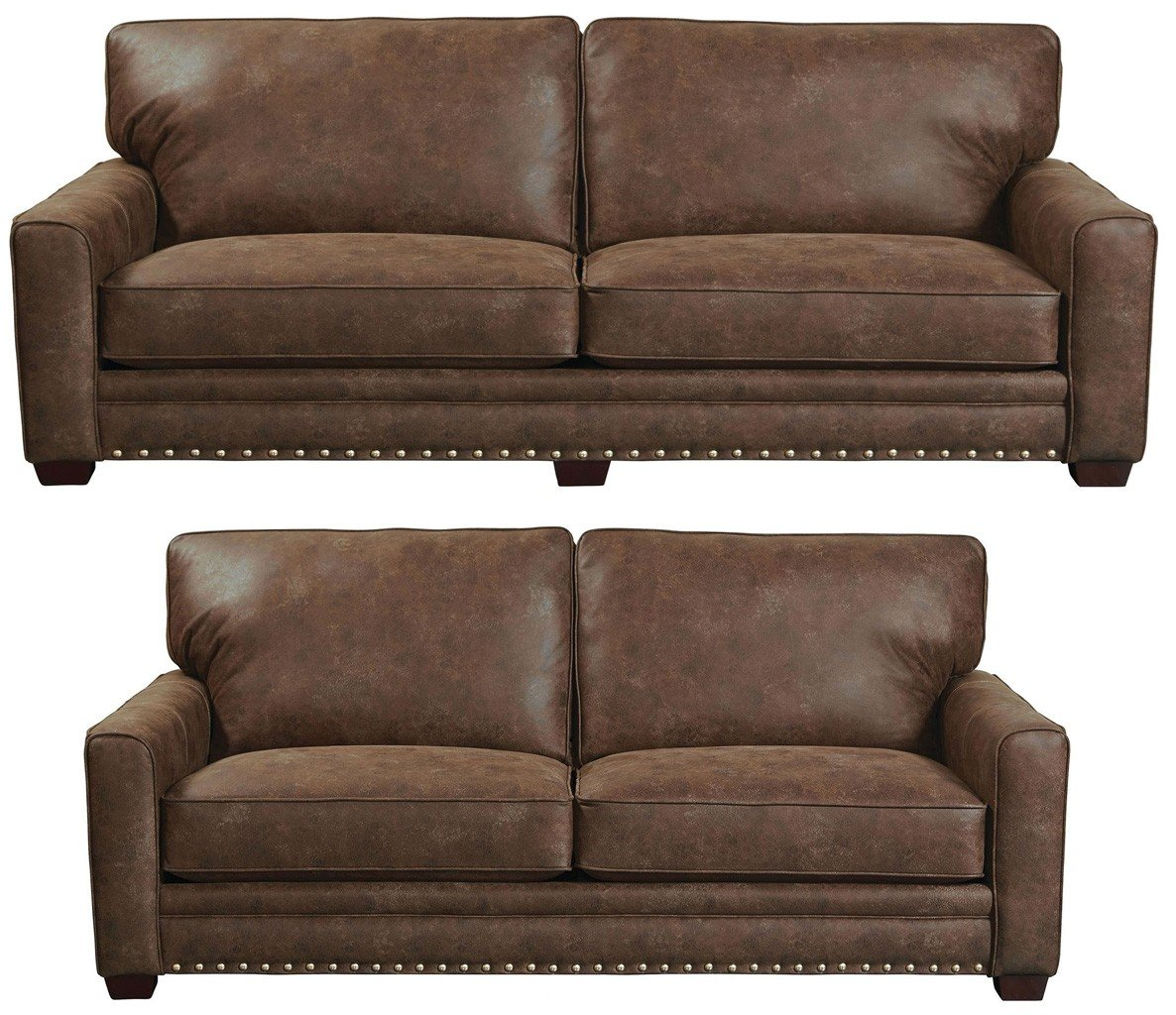 Faux Leather Sofa In A Box Elmsford Living Room Set Tanner