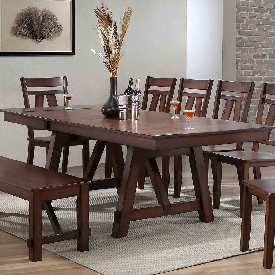 Dining Room Furniture Rustic Winslow Rectangular Dining Room Set Rustic Cherry