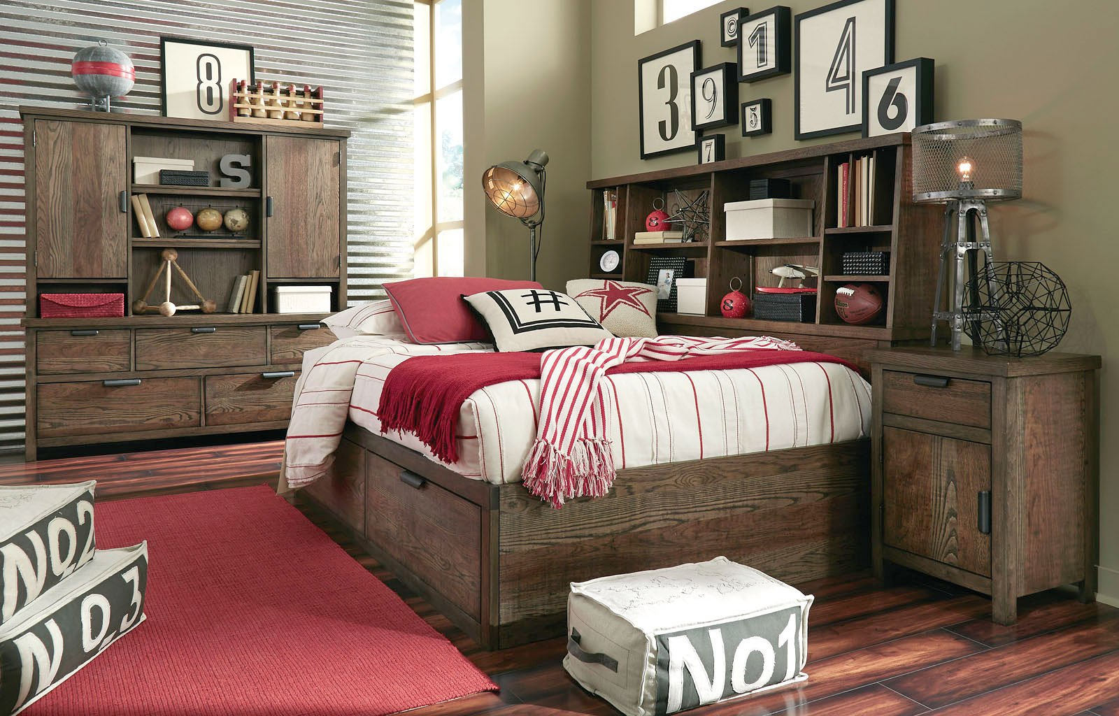 Kids Furniture Fulton County Bookcase Lounge Bedroom Set