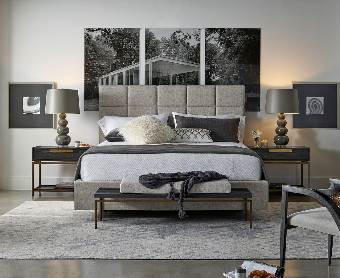 Modern Onyx Bacall Panel Bedroom Set Universal Furniture Furniture Cart