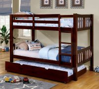 Cameron Bunk Bedroom Set (Dark Walnut) Furniture Of ...
