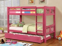 Cameron Bunk Bedroom Set (Pink) Furniture Of America ...