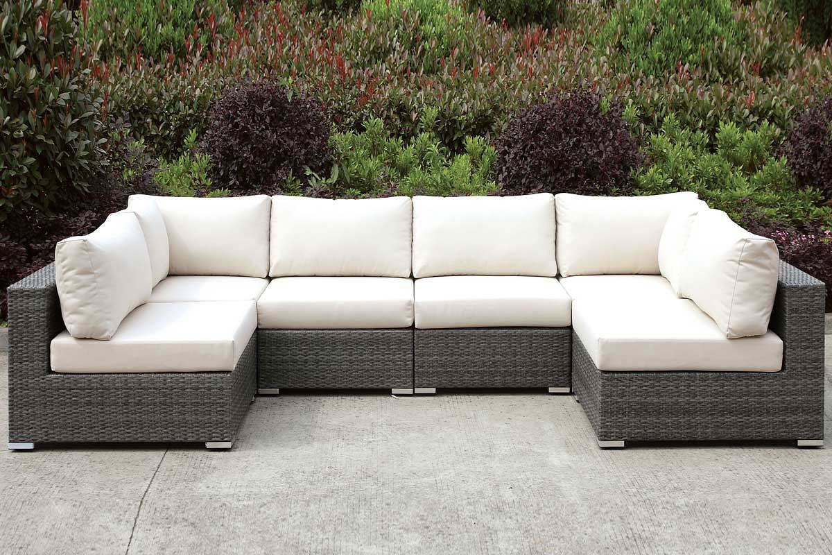 U Couch Somani Outdoor U Shaped Sectional Configuration 6