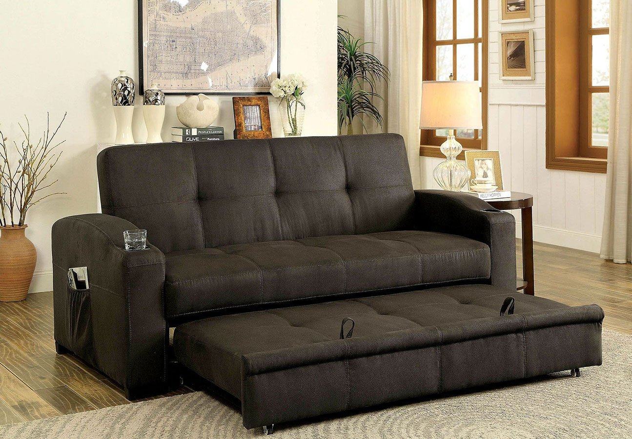 Mavis Futon Sofa Furniture Of America Furniture Cart