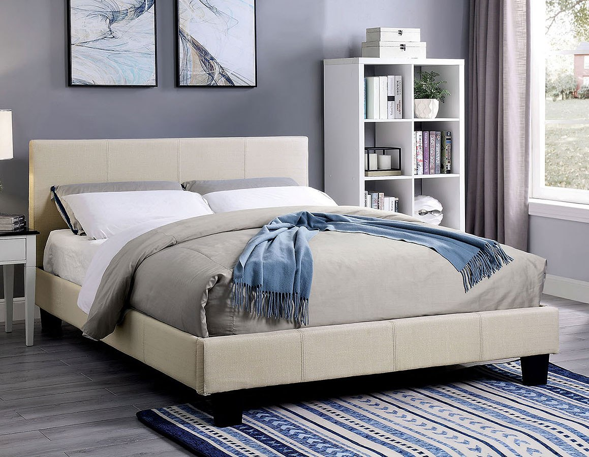 Is A Platform Bed Comfortable Sims Youth Platform Bed Beige