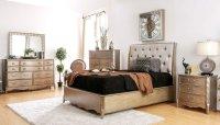 Celine Upholstered Bedroom Set Furniture Of America ...