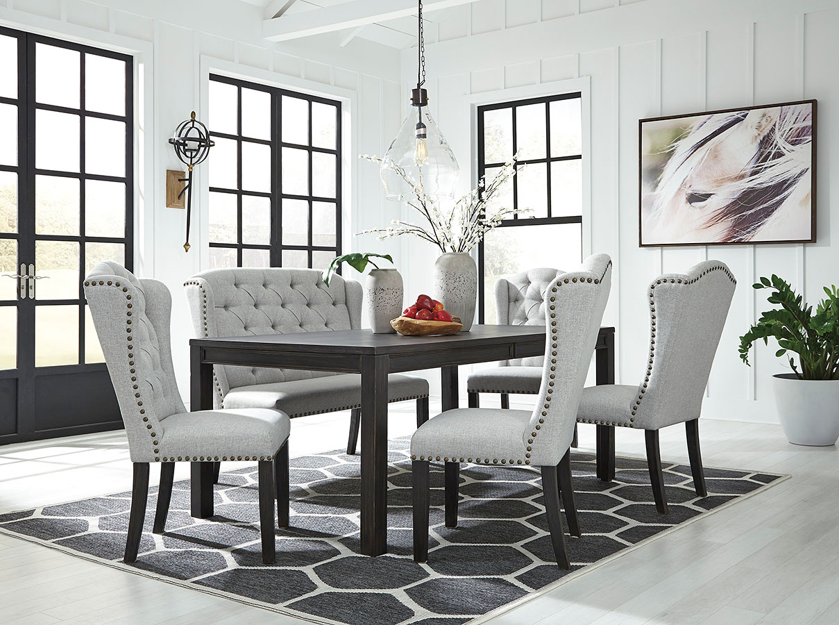 Jeanette Dining Room Set W Bench Signature Design By Ashley Furniture Cart