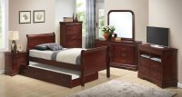 G3100 Youth Sleigh Bedroom Set W/ Trundle Glory Furniture ...