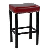Tudor 26-Inch Backless Barstool (Red) Armen Living ...