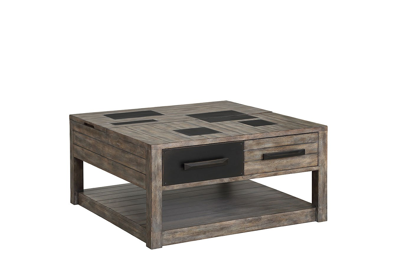 River Rock Cocktail Table W Lift Top Parker House Furniture Cart