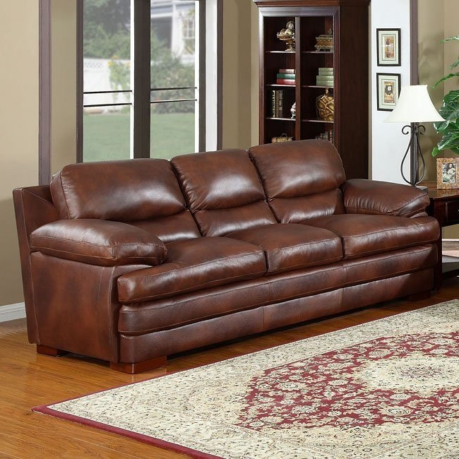 Baron Leather Sofa Leather Italia 2 Reviews Furniture Cart