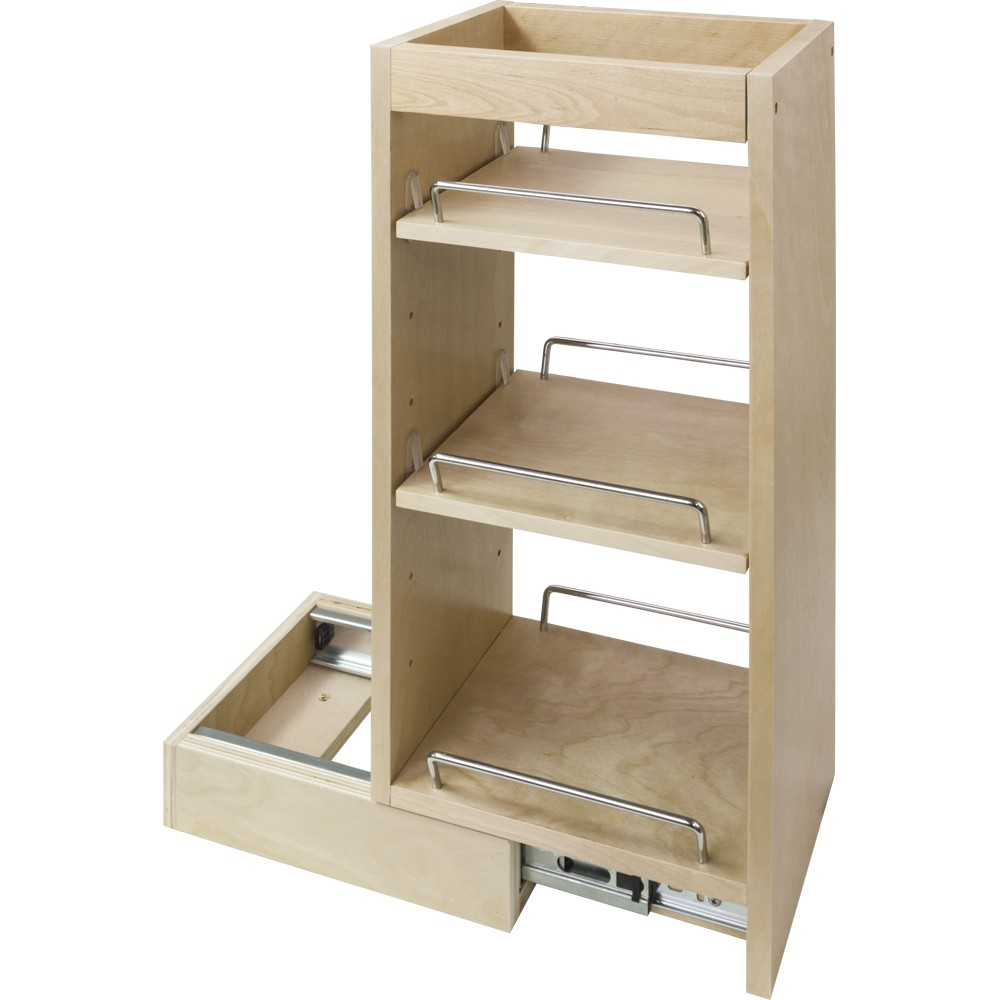 Kitchen Cabinets With Pull Out Shelves Wall Cabinet Pull Out Spice Rack Fits 12