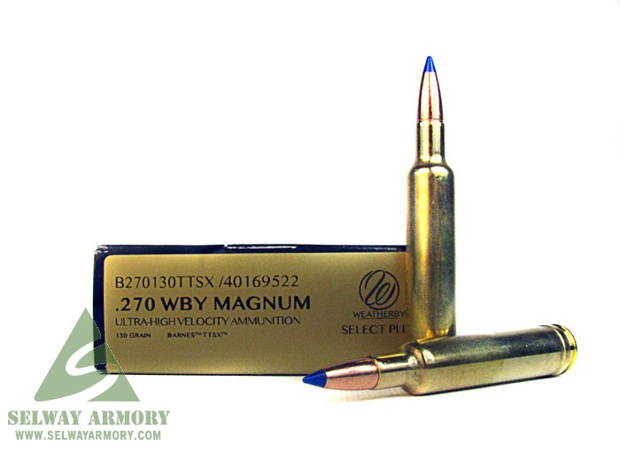 Weatherby 270 Weatherby Magnum 130 Gr Barnes Tipped