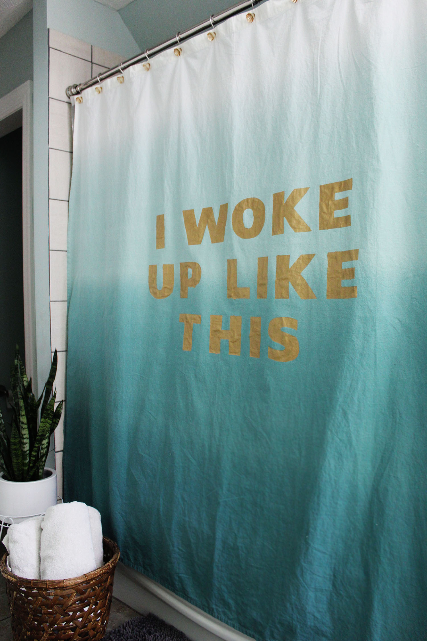How To Make Shower Curtain Statement Shower Curtain Diy A Beautiful Mess