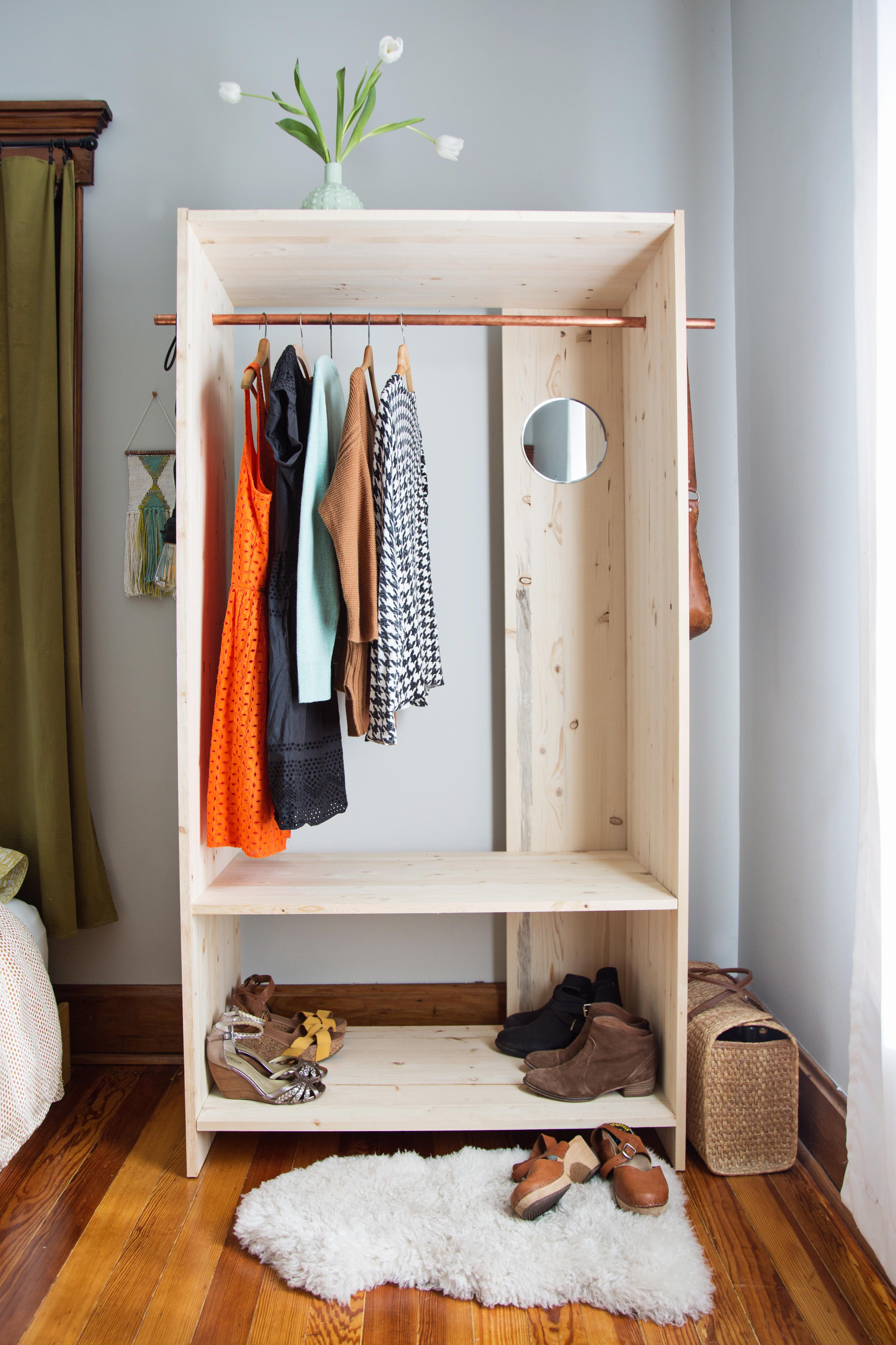 Designing A Closet Diy Modern Wooden Wardrobe Diy A Beautiful Mess