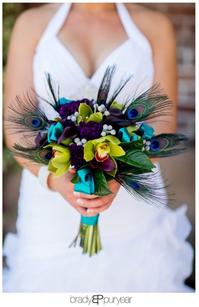 Trending – Peacock theme, jewel toned wedding colors ...