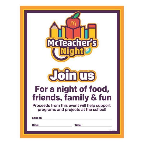 McTeacher\u0027s Night School Poster - Smilemakers McDonald\u0027s approved