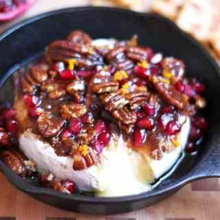 Pomegranate-Pecan-Baked-Brie