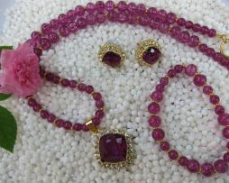 Violet-crackle-beads-Neck-Set-EC-11-Smingry-Jewels