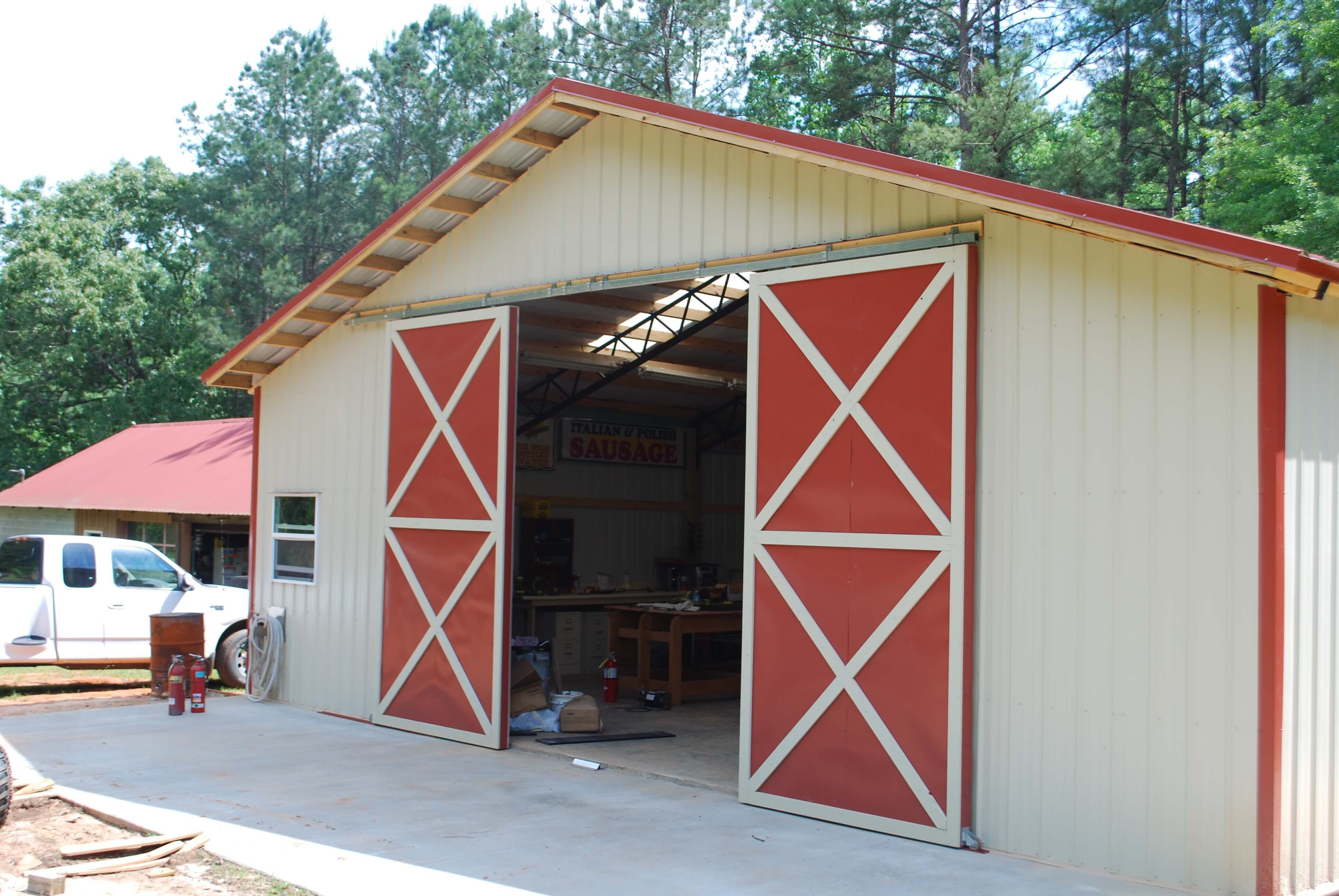 Barn Metal Open Shelter And Fully Enclosed Metal Pole Barns Smith Built
