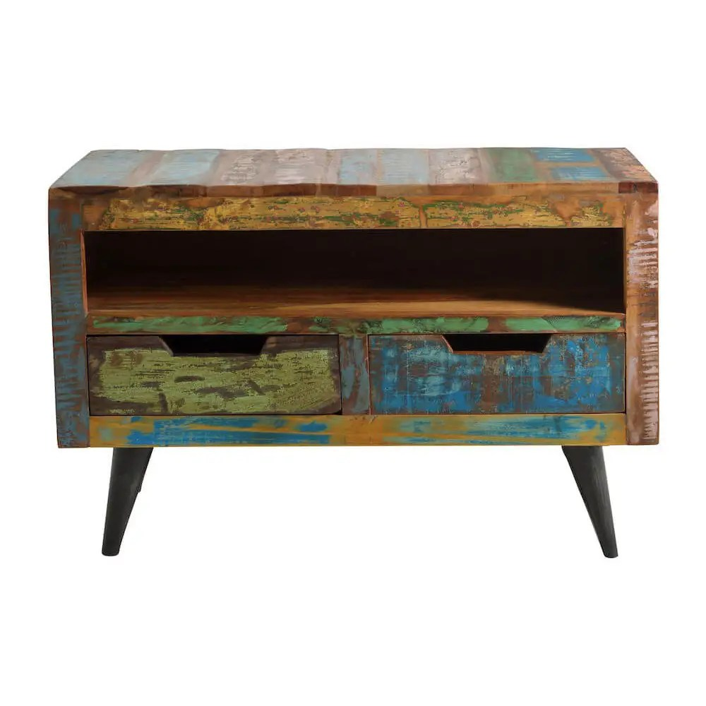 Retro Tv Cabinet Reclaimed Wood Tv Stand